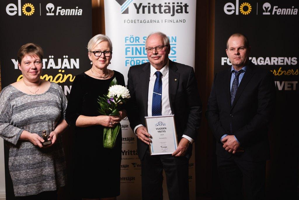 Plastweld Oy palkittiin Vähänkyrön Vuoden yrityksenä.